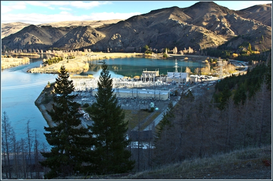 View from top of Benmore Dam