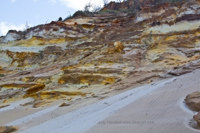 Coloured Sands, Rainbow Beach.