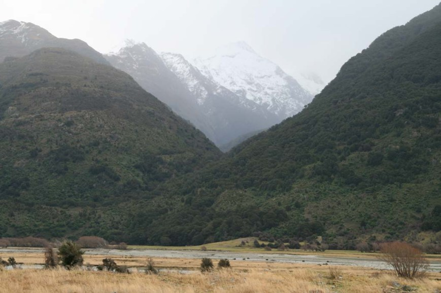 Snowing in the hills