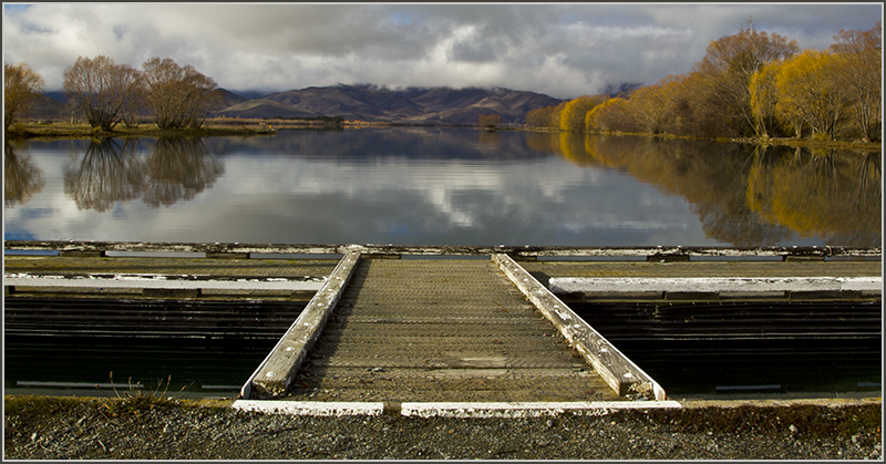 Jetty at Lake Benmore