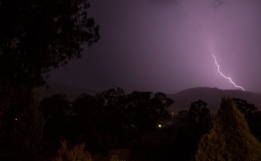 Storm at the house from deck, Murrurundi NSW