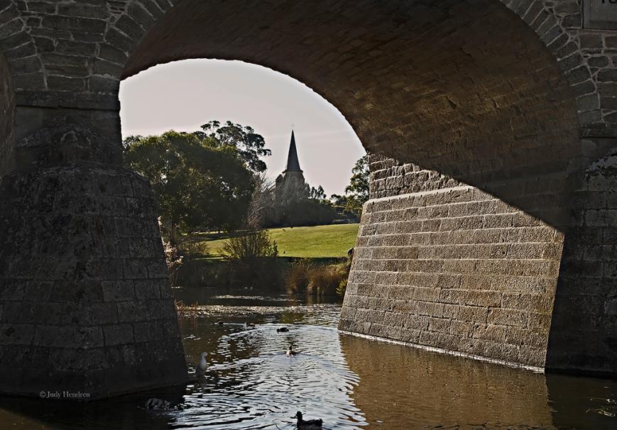 Thru the Arch, Richmond Bridge, Richmond.